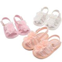 сандалии для девочек оптовых-2019 новые летние цветочные детские мокасины мягкие детские первые ходунки туфли для девочек детские сандалии принцесса цветок детская обувь новорожденных