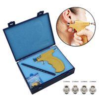 saplama kulağı delme tabancası toptan satış-Profesyonel Kulak Stud Küpe Piercing Tabanca Araçları Kiti Piercing Tabancası Seti CJ191116