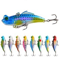 Wholesale fake fish bait for sale - Group buy New Arrival Vibration Fake Fish Lure mm g Mirror Reflective Fishing Lure Artificial Baits Wobbler Lure LA14