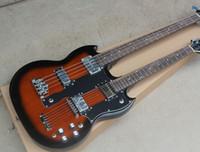 guitare double manche de qualité achat en gros de-Guitare électrique 4 cordes et 6 cordes à manche double, avec bras Jacaranda, garniture chromée, haute qualité