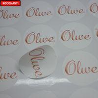el sanatları çıkartmaları toptan satış-1000 Adet Özel Marka Logo Temizle Vinil Su Geçirmez Etiket Etiket Kağıt A4 Decorati için Baskı Yapıştırıcı Zanaat Hediye Sticker