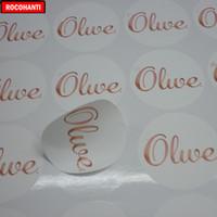 vinilo adhesivo a4 al por mayor-1000Pcs Logotipo de marca personalizado Vinilo transparente Etiqueta impermeable Etiqueta de papel A4 Impresión Adhesivo Etiqueta de regalo artesanal para Decorati