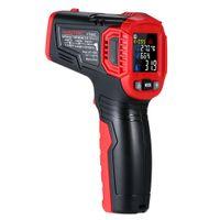 termómetro de contacto industrial al por mayor-Sin contacto - 30-550C IR Termómetro infrarrojo Medidor de temperatura digital de mano Medidor de humedad Humedad 12: 1 Pirómetro