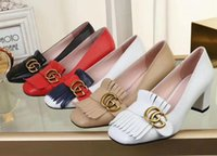 насосы низкого давления оптовых-Новые горячие качества женщин леди Party GC Туфли на высоком каблуке Женская мода низкие кеды дизайн каблук кожаные туфли