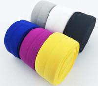 replier élastique livraison gratuite achat en gros de-2cm 4cm Largeur de haute qualité Pli sur élastique FOE ruban coloré bandeau diy décoration en gros Livraison gratuite
