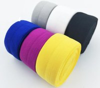 ingrosso nastro del nemico-2cm 4cm larghezza di alta qualità Fold Over elastico FOE colorato nastro fai da te decorazione all'ingrosso Spedizione gratuita