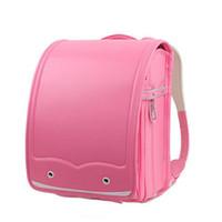 японские бренды сумки оптовых-Funatom Randoseru Kid PU твердый высококачественный бренд детская сумка рюкзак для мальчика Детская школа Япония рюкзак 2018