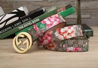 cinturones elásticos de metal dorado al por mayor-Venta al por mayor- Mujeres Metal Hebilla de oro Elástico Cintura elástica Cuero de la PU Cinturón de moda Cinturón H34