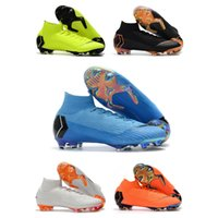 chaussures de foot en plein air ronaldo achat en gros de-2019 Bottes De Football Bleu Glacé D'origine Soccer Crampons Mercurial Superfly V SX Chaussures De Football De Neymar Top Qualité Cristiano Ronaldo Chaussures de Plein Air