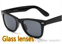 marcas de óculos de sol de praia venda por atacado-Marca de verão homens praia óculos de sol lentes de vidro óculos de ciclismo das mulheres de bicicleta óculos de condução de vidro 6 cores preço barato PEQUENO frete grátis