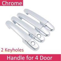 2-Doors Accessories Chrome Smart Door Handle Covers For 2016-2018 Toyota Tacoma