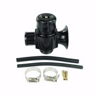 válvulas de descarga venda por atacado-Novo Universal Dual Port Blow Off Válvula 34mm BLACK Válvula Desviadora Dump Válvula BOV dump blow off adaptador