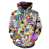 pokemon hoodie groihandel-Harajuku Anime-Karikatur Hoodies Adventure Time / Totoro / Pokemon Kawaii Kleidung 3D-T-Shirt Sudaderas Mujer 2018 MX191025