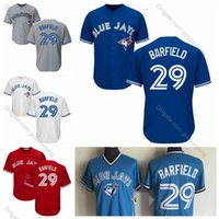Wholesale light blue baseball jerseys resale online - Vintage Toronto Jesse Barfield Jersey Light Blue Blue Mens Jays Jesse Barfield Baseball Jerseys Stitched Baseball Shirts M XXXL