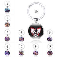Wholesale new toy iron man resale online - Avengers Endgame Keychain New Avengers Captain Marvel Iron Man Thor Thanos time gemstone alloy glass Key Chain toys B