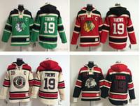 sudaderas nhl al por mayor-Calidad superior! NHL Chicago Blackhawks Old Time Hockey Jerseys 19 Jonathan Toews Hoodie Pulóver Sudaderas Winter Jacket Mix Order!