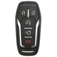 llavero ford al por mayor-Negro TPU Key Fob Cover Case Remote Holder Guante de piel para Ford Fusion F-150 Edge Explorer Mustang Lincoln MKZ MKC 3/4/5 Botones Smart Key