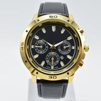аналоговые часы даты дня оптовых-В продаже 40 мм кварцевый кожаный золотой корпус круглый модные мужские часы день дата аналоговые мужские платья дизайнерские часы оптом мужские подарки наручные часы