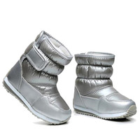 Wholesale wide calf snow boots for sale - Group buy Children s Rubber Boots For Girls Boys mid calf bungee lacing snow boots waterproof girls boot sport shoes fur lining kids boot Y18110304