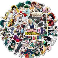 Wholesale 50 Non repeating Anime Movie Cartoon Computer Stickers Luggage Laptop Stickers Skateboard Guitar Car DIY Cool Graffiti Cheaper Sticker A12