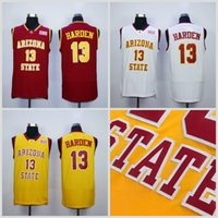 Wholesale free shipping basketball team jerseys for sale - Group buy NCAA James Harden College Jerseys Arizona State Sun Devils Jersey Men Basketball Team Red Away Yellow White For Sport Fans