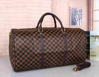 2df1f5246 Hot luxury 2019 brand men women travel bag PU Leather duffle bag brand designer  luggage handbags large capacity sports bag