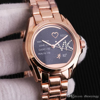 pulseiras casadas venda por atacado-Procurar semelhante Hot Sell Luxo Mulheres de pulso Relógios Ladies Rhinestones lindo Rose menina do ouro Mulheres Pulseira relógio de pulso enga casado