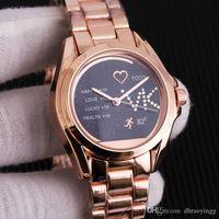 ingrosso braccialetti sposati-Trova simile di vendita calda di lusso del braccialetto delle donne Donne Ladies degli orologi splendidi strass in oro rosa Ragazze orologio da polso enga sposato