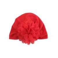 головной убор для девочек оптовых-Multi-Color Cute Baby Girls Boys Bow Turban Hat Toddler Kids Head Wrap Hijab Headband Cap Accessories
