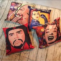 Wholesale monroe sofa pillow resale online - Halloween Christmas Marilyn Monroe Throw Pillow Cases Cushion Cover Pillowcase Linen Cotton Square Pillow Case Pillowslip Home Sofa