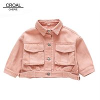 Wholesale denim jackets for kids for sale - Group buy CROAL CHERIE Autumn Denim Jeans Jackets For Girls Clothes Kids Warm Outerwear Trench Coats For Girls Children Jacket