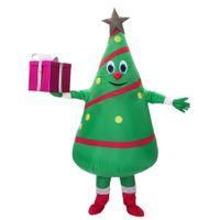 свободный дизайн костюма талисмана оптовых-Горячие Продажи взрослых надувной костюм новый дизайн Зеленая Рождественская Елка Костюм Талисмана Бесплатная Доставка