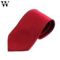 сплошные цветные галстуки оптовых-Ties For Men 1PC Mens New Classic Solid Color Striped Tie Jacquard Woven Mens  Necktie Tie 2018 Nov16