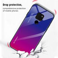 case huawei china оптовых-Huawei mate20 постепенное изменение закаленное стекло case новый mate20 pro мобильный телефон защитный чехол сделано в Китае Новый бесплатная доставка