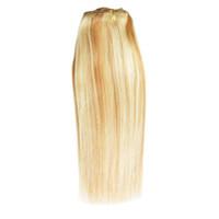 colores remy de la armadura al por mayor-Cabello humano brasileño recto 1 pieza de armadura del pelo paquetes 10-28 pulgadas diferentes colores envío gratis no remy pelo