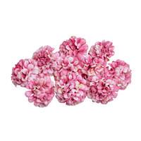 ingrosso diy scrapbook regali-4,5 centimetri di seta ortensia testa di fiore per la festa nuziale decorazione della casa fiore artificiale corona fai da te confezione regalo scrapbook craft
