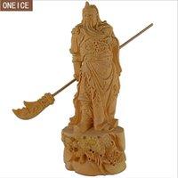 ingrosso statue di legno di buddha-Scultura in legno massello statua di Buddha intagliato a mano mobili decorazione della casa accessoriesstatue Guan Yu statua del Buddha decorazione loft