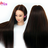Wholesale training head human hair for sale - Group buy Mannequin Head With Hair Training Hairdressing Doll Mannequins Human Heads Training Female Wig Dummy Head With Synthetic Hair