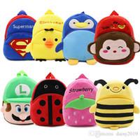 en iyi bebek çantaları toptan satış-Yeni Peluş Sırt Çantası Sevimli Karikatür Çocuklar küçük öğrencinin çantası Oyuncak Mini Okul Çantası Anaokulu Erkek Kız Bebek en iyi hediye