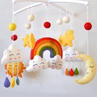 conjuntos de cama embalagem venda por atacado-DIY Mulher Handmade chocalhos Bracket Set Berço Cama Titular de Bell material do pacote do bebê Toy Rotary Com Clockwork Música