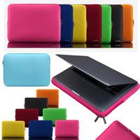 porzellan laptop tasche großhandel-Weiche Laptop-Tasche 14 Zoll Laptop-Tasche Reißverschlusshülle Schutzhülle Tragetaschen für iPad MacBook Air Pro Ultrabook Notebook-Handtaschen