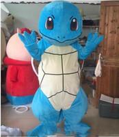 trajes carnaval tema festa venda por atacado-2019 venda direta da Fábrica Halloween Squirtle Mascot Costume Top Quality Caráter Dos Desenhos Animados Tartaruga Anime personagem de Natal Traje Do Partido Do Carnaval
