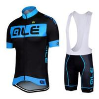Wholesale men cycling jersey bib kit resale online - Cycling jersey Ale team short sleeve cycling sets ropa ciclismo men s summer bicycle MTB bike clothing bib shorts kit