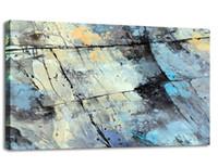 renk soyut sanat toptan satış-Soyut Tuval Wall Art Renk Harita Duvar Resim Streç ve Çerçeveli Oturma Odası için Ev Dekorasyon
