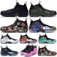 Wholesale free shoes foams resale online - Penny Hardaway Mens Basketball Shoes Cny Floral Fleece Habanero Red Sequoia Eggplant Rust Pink Foam Sports Sneakers