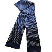 männer lila schal großhandel-Herren Scravers 100% reiner Seide doppelseitig männlichen langen Schal Elegante Mode Halstuch blau lila grau