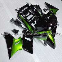 zzr carenados verde al por mayor-23colors + 5 Gifts Molde de inyección verde negro Carenado de motocicleta para Kawasaki ZZR400 93-07 ZZR 400 1993-2007 kit de plástico ABS