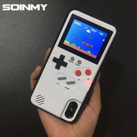 étuis iphone pour garçons achat en gros de-Coque GameBoy pour écran couleur pour iphone x 6 6s 7 8 plus Game Boy Tetris Couverture rechargeable pour iphone x coque fundas coque
