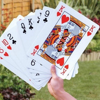 Wholesale jumbo games for sale - Group buy 17 CM Jumbo Classic Texas Playing Cards Pokers Four Times Bigger Poker board game Giant Playing Card