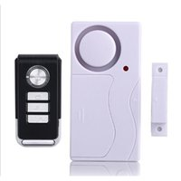 Wholesale wireless security door sensors for sale - New Wireless Magnetic Window Door Sensor Detector Remote Control Entry Detector Anti Theft Home Security Alarm System DHL